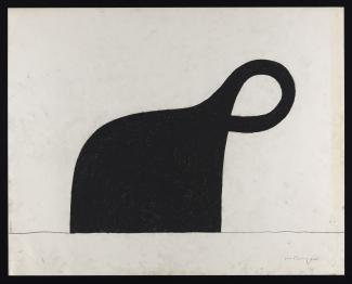 Puryear's Drawing for Untitled made from compressed charcoal on wove paper.
