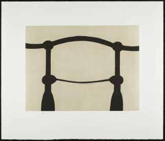 Puryear's Shoulders (Slate 2) made from etching on paper.