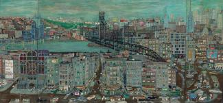 Fasanella's New York City, a painting depicting the cityscape of NYC.