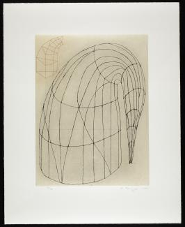 Puryear's Untitled , a color hard and soft ground etching on paper.