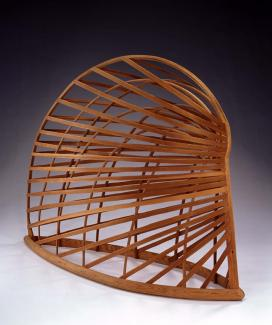 Puryear's Bower, a structure made from sitka spruce and pine.