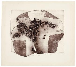 Puryear's MLK Elegi made from softground etching and aquatint on a shaped plate.