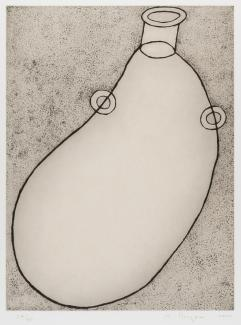 Puryear's Jug made of hard and soft etching on paper.