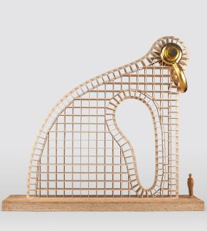 Puryear's Maquette for Big Bling made from birch, plywood, maple and gold leaf.