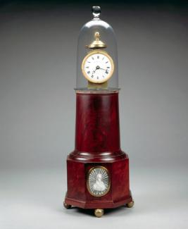 Simon Willard & Son's mahogany shelf clock.