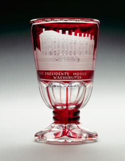 An image of a ruby-stinted glass bohemian goblet.