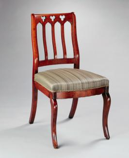An image of J. & J.W. Meek's black walnut side chair.