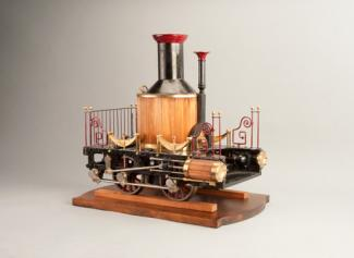 Winans' patent model for a locomotive made of wood and metal.