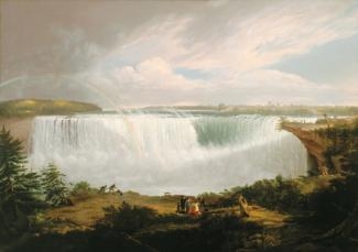 Fisher's oil on canvas of Horseshoe Falls in Niagara.