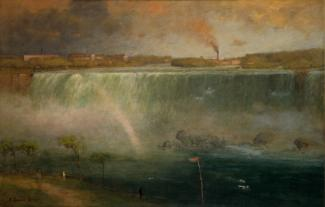 Inness' oil on canvas of Niagara Falls.