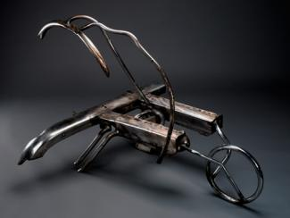 Hunt's steel sculpture.