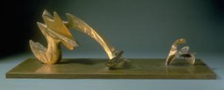 Hunt's copper study model for larger sculpture.