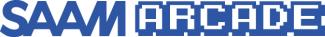 This is the logo for SAAM Arcade in blue.