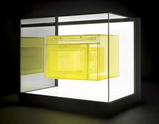 Yellow microwave sculpture