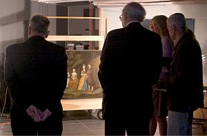 Art historians and curators discuss the original painting by William Williams.