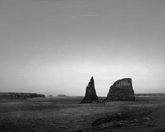 This is an photograph of a landscape in black and white.