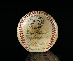 Jackie Robinson's ball. Smithsonian Institution Collections, National Museum of American History, Behring Center