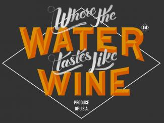A logo for the Indie Gamer, Where The Water Tastes Like Wine.