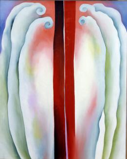 Exhibitions - Crosscurrent, Red Lines, Georgia O'Keeffe