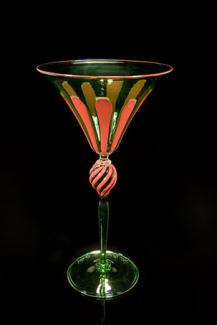 A glass goblet.