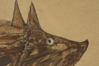Blog - Conservation, Traylor, Untitled, Brown Pig