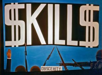 Banner reading $KILL$ on a blue background