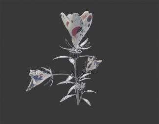A digital reproduction of a flower.
