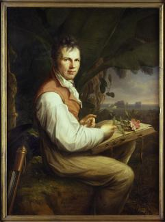 Exhibitions - Humboldt, Friedrich Georg Weitsch, Portrait of Alexander von Humboldt (1769–1859), 1806, oil on canvas, 49 5/8 x 36 3/8 in., Staatliche Museen zu Berlin, Nationalgalerie, Photo: bpk Bildagentur / Nationalgalerie, Staatliche Museen, Berlin, G