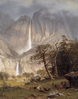 Exhibition - Humboldt, Albert Bierstadt, Cho-Looke, The Yosemite Fall, 1864, oil on canvas, 34 1/4 x 27 1/8 in., Timken Museum of Art, Putnam Foundation.