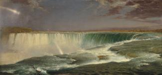 Exhibition - Humboldt, Frederic Edwin Church, Niagara, 1857, oil on canvas, 40 × 90 1/2 in., National Gallery of Art, Corcoran Collection (Museum Purchase, Gallery Fund).