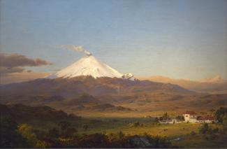Exhibition - Humboldt, Frederic Edwin Church, Cotopaxi, 1855, oil on canvas, 28 x 42 in., Smithsonian American Art Museum, Gift of Mrs. Frank R. McCoy, 1965.12, Photo by Gene Young.