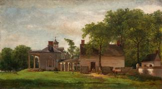Exhibition - Humboldt, Eastman Johnson, The Old Mount Vernon, 1857, oil on board, framed: 23 3/8 x 34 1/2 in., Mount Vernon Ladies' Association, Purchased with funds courtesy of an anonymous donor and the Mount Vernon Licensing Fund, 2009, Photo Courtesy