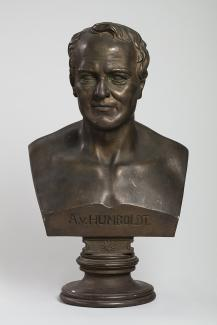 Exhibition - Humboldt, Henry Berger, Bust of Humboldt, 1860, painted plaster, 27 x 16 x 12 1/2 in., The National Museum of Natural History, Smithsonian Institution.