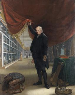 Exhibition - Humboldt, Charles Willson Peale, The Artist in His Museum, 1822, oil on canvas, 103 3/4 x 79 7/8 in., Pennsylvania Academy of Fine Arts, Philadelphia, Gift of Mrs. Sarah Harrison (The Joseph Harrison Jr. Collection).