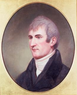Exhibition - Humboldt, Charles Willson Peale, Portrait of Meriwether Lewis, 1807, oil on wood panel, 25 x 20 in., Independence National Historic Park Collection, Philadelphia, PA.