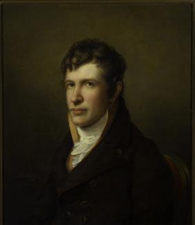Exhibition - Humboldt, Rembrandt Peale, Portrait of Alexander von Humboldt, 1809–1812, oil and encaustic on canvas, 22 1/2 x 27 in., Collection of Robert W. Hoge and Immaculada Socias Hoge.