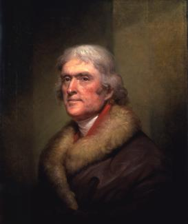 Exhibition - Humboldt, Rembrandt Peale, Thomas Jefferson, 1805, oil on linen, 28 x 23 1/2 in., New-York Historical Society, Gift of Thomas Jefferson Bryan, Photography ©New-York Historical Society.
