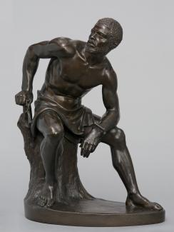 Exhibition - Humboldt, John Quincy Adams Ward, The Freedman, 1863, bronze, 19 1/2 x 14 11/16 x 9 5/8 in., Boston Athenæum, gift of Elizabeth Frothingham (Mrs. William L.) Parker, 1922, Photograph by Jerry L. Thompson for the Boston Athenæum.
