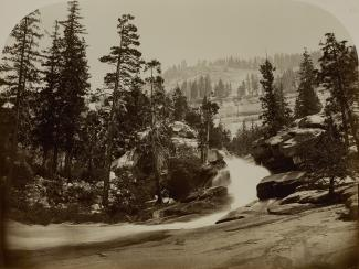 Exhibition - Humboldt, Carleton E. Watkins, Cascade, Nevada Falls, Yosemite, California, ca. 1861, albumen silver print, 15 5/8 x 20 7/8 in., Smithsonian American Art Museum, Museum purchase from the Charles Isaacs Collection made possible in part by the
