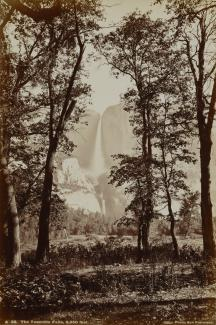 Exhibition - Humboldt, Carleton E. Watkins and Isaiah West Taber, Yosemite Falls, ca. 1865–66, printed after 1875, albumen silver print, 12 x 8 in., Smithsonian American Art Museum, Museum purchase from the Charles Isaacs Collection made possible in part
