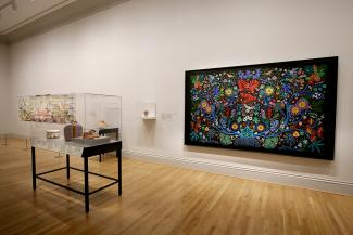 An installation shot of Hearts of Our People
