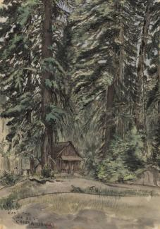 Exhibitions - Chiura Obata, Carl Inn, 1927, watercolor on paper, 15 3/4 x 11 inches Smithsonian American Art Museum, Gift of the Obata Family, 2005.17.2, © 1989, Lillian Yuri Kodani.