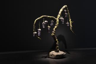 An artwork that looks like a tree