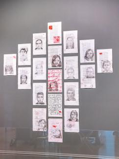 A photograph of an artwork