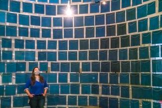 A photograph of a large room sized installation