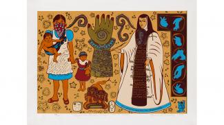 Blog - Chicanx Graphic Arts in Focus: Mujer de Mucha Enagua_sized for homepage