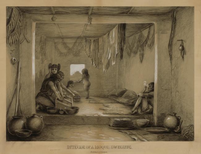 Interior of a Hopi Dwelling