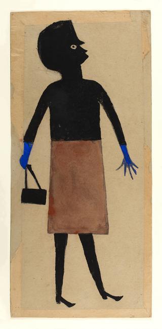 "Stop 14 – Diana Baird N'Diaye on ""Woman, Blue Gloves, Brown Skirt"""