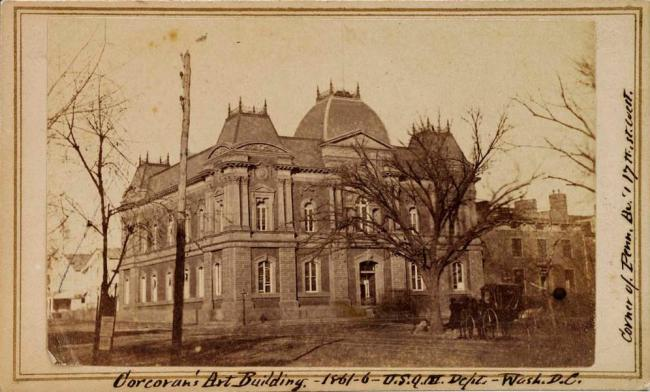 1861 yellowed photograph of Renwick exterior (3 of 16)