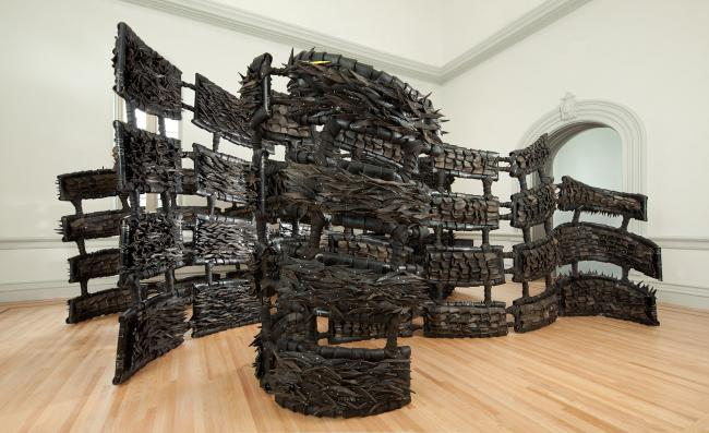 An installation piece made from tires for WONDER at the Renwick Gallery. (6 of 18)